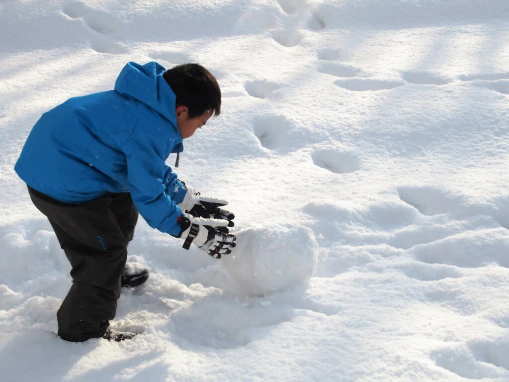 3.冬期間はソリ滑りで直滑降!