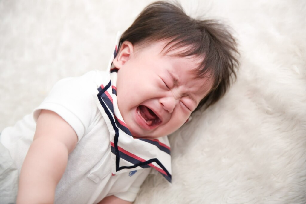 子供は泣くもの、と再認識する